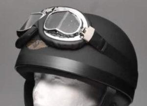 バイク用ヘルメットのハーフキャップ