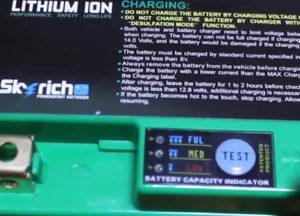 リチウムイオンバッテリー残量インジケーター