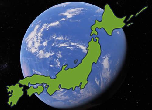 日本全国の地図イメージ